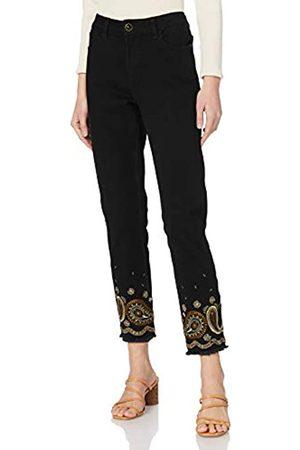 Desigual Womens Denim_BELGICA Casual Pants, Black