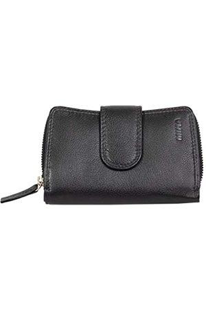 Mika 80022501 - Damengeldbörse aus Echt Leder, Portemonnaie im Hochformat, Geldbeutel mit 9 Kreditkartenfächer, 2 Scheinfächer und doppeltes Münzfach, Brieftasche in, ca. 13,5 x 9,5 x 3