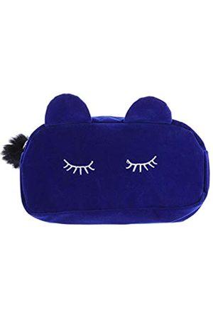 Tokyo Summer Make-up-Kosmetik-Organizer, 1 x tragbare Cartoon-Katzen-Make-up-Tasche, Münzaufbewahrung, Reise-Make-up-Flanell-Tasche, niedliche Kosmetiktasche für Frauen und Mädchen
