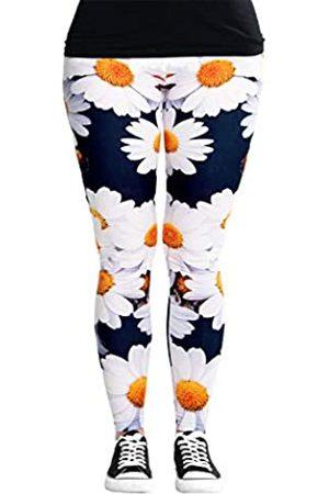 cosey Damen Bunte Bedruckte Blumen Leggings