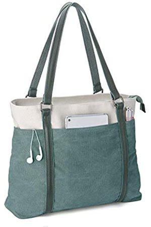 Iswee Damen-Laptop-Tragetasche aus Segeltuch, große Kapazität, passend für Laptops mit einer Größe von 39,6 cm (15
