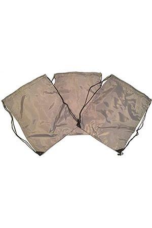 TheAwristocrat 3 Stück Nylon Kordelzug Rucksäcke Sackpack Tote Cinch Gym Bag – verschiedene Farben - TA-DSB