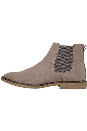 FIND Marsh Herren Chelsea Boots Stiefel, (Taupe Suede Look)