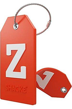 Shacke Gepäckanhänger mit Sichtschutzdeckel und Edelstahlschlaufe (orange)