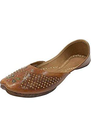 Step N Style Damen Leder Punjabi Jutti Ethnic Mojari handgefertigt Designer Khussa Juti