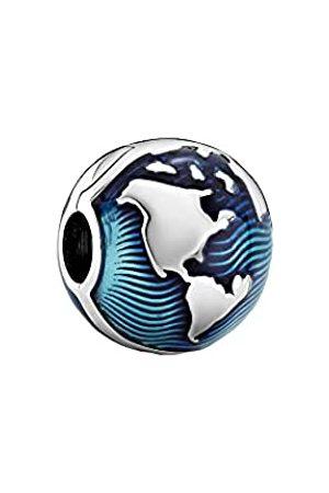 PANDORA Blue Globe Clip Charm