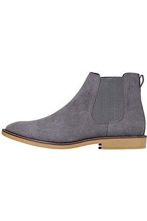 FIND Marsh Herren Chelsea Boots Stiefel, (Charcoal Suede Look)