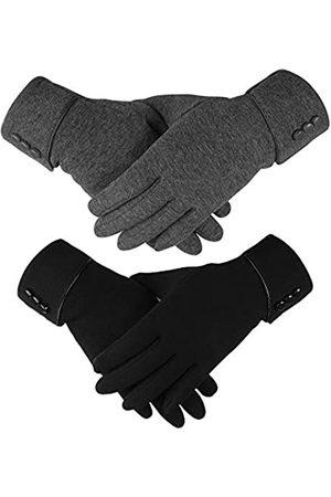 Hicdaw 2 Paar Touchscreen Handschuhe Winter Handschuhe für Frauen Warme Touchscreen Handschuhe Winddicht Handschuhe Geschenk für Frauen