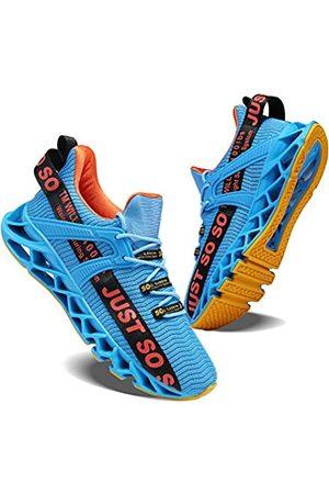 COKAFIL Herren Laufschuhe Athletic Walking Blade Tennisschuhe Mode Sneakers, (F-e & Blue )