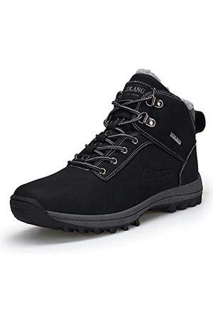 happygo! Herren Winterschuhe Wasserdicht Warm Gefütterte Trekking Wanderschuhe Outdoor Sneaker Schneestiefel 44
