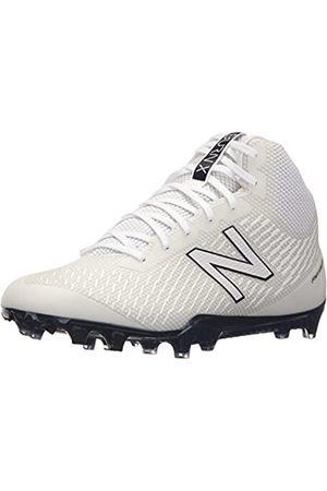 New Balance Men's BURN Mid Speed Lacrosse Shoe, White/Blue