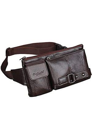 Hebetag Gürteltasche aus Leder im Vintage-Stil, für Herren und Damen, für Reisen, Wandern, Laufen, Hüftgürtel, schmal, Handy-Geldbörse