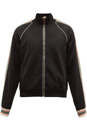 Gucci Web-stripe Gg-jacquard Zipped Jersey Track Jacket