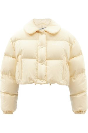 Miu Miu Cropped Quilted-shell Jacket