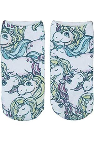 cosey 1 Paar bunte sneaker Einhorn Socken - im Design