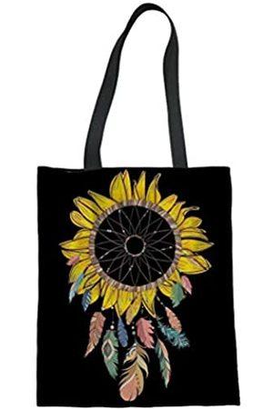 GOSTONG Sunflower Love Tote Bag Schultertasche Reise Handtasche Leinen Tasche für Damen, (A-Sunflower Traumfänger)