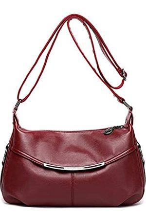 Hiigoo Damen Umhängetaschen - Reisetasche Messenger Bag Casual Totes Mode Schultertaschen PU Leder Handtaschen