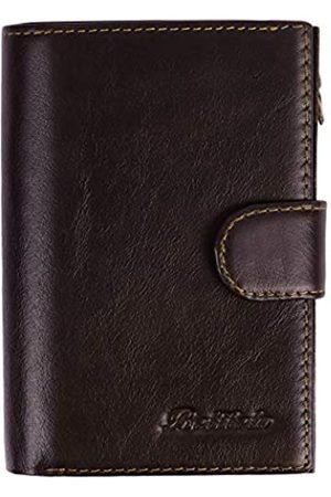 BETITETO Herren-Reisepasshülle aus Leder mit RFID-Design, mit 7 Kreditkartenfächern