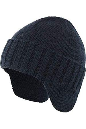 Ambientehome Home Prefer Herren Wintermütze Strickmütze mit Ohrenklappen und Ohrenklappen - Blau - Einheitsgröße
