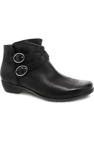 Dansko Women's Faithe Black Inside Zip Ankle Bootie 8.5-9 M US