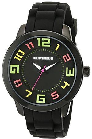 CEPHEUS Damen-Armbanduhr XL Analog Quarz Silikon CP604-622