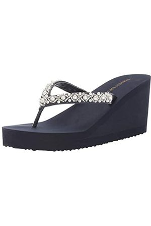 Touch Ups Damen Keilabsätze - Damen Sandalen mit Keilabsatz, (navy)