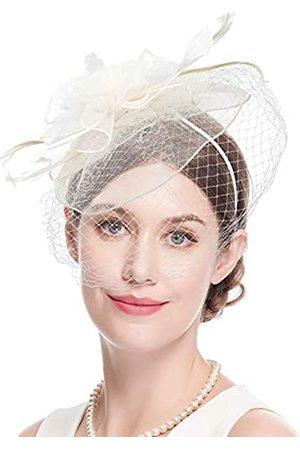 Cizoe Fascinator-Hüte, 20er-/50er-Jahre, Hut, Pillendose, Hut, Cocktail, Teeparty, Kopfbedeckung mit Schleier