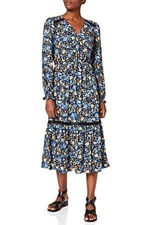 Springfield Damen Vestido Midi Lace Viscosa Sostenible Kleid