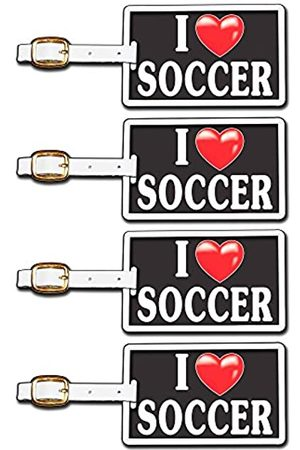 Tag Crazy I Heart Soccer Four Pack
