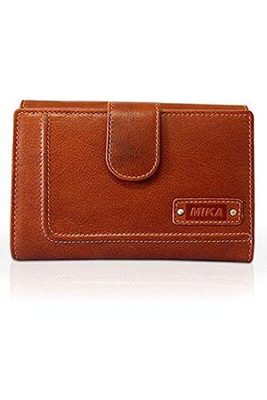 Mika 14113502 - Damengeldbörse aus Echt Leder, Portemonnaie im Hochformat, Geldbeutel mit 20 Kreditkarten Fächer, 3 Einschubfächer, 2 Scheinfächer und Münzfach, Brieftasche in