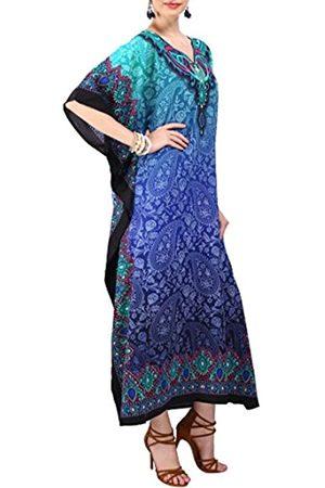 Miss Lavish London Damen Kaftans Kimono Maxi Stil Kleider passend für Teenager bis Erwachsene Frauen in regulären bis Übergrößen - - 36-42