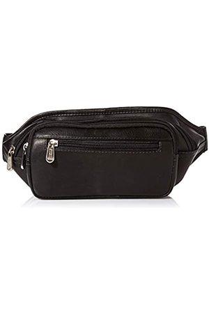 Piel Piel Leder Multi-Zip Oval Taille Tasche - 3086-BLK