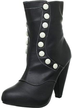 TUK Damen Stiefel - Sweet Jane A8183L, Damen Stiefel, (Noir (Black Cream Buttons))