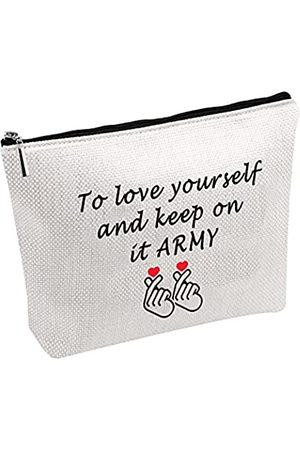 POFULL Kpop-Liebhaber-Geschenk, Armee-Make-up-Tasche, koreanische Gruppe, Make-up-Tasche, um sich zu lieben und zu halten