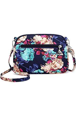 Collsants Damen Umhängetaschen - Kleine Umhängetasche, Nylon, Reisetasche, mehrere Taschen mit Reißverschluss, (Flower-m)