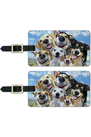 Graphics and More Kofferanhänger mit Aufschrift Dogs Smile Selfie Retriever Schäferhund