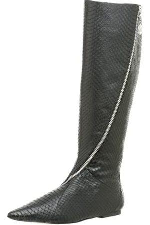 Daniblack Damen Overknees - Damen Ritter Kniehohe Flache Stiefel