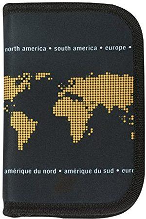 ORB Travel WP542-T-Neon Earth-Black/Tangerine-RFID-blockierender Reisedokument Hülle mit Reißverschluss