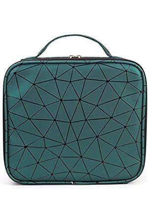 Soumeanz Damen Koffer - Geometrische Reise-Kosmetiktasche aus Leder, Make-up-Organizer, verstellbare Trennwände, Kosmetiktaschen für Damen