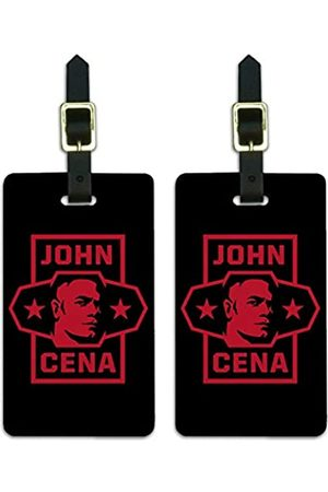 Graphics and More WWE Gepäckanhänger John Cena Star Gepäckanhänger Koffer Handgepäck Karten – 2 Stück