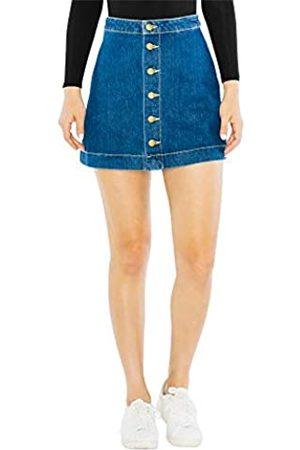American Apparel Damen Denim Button Front A-Line Mini Skirt Strickrock