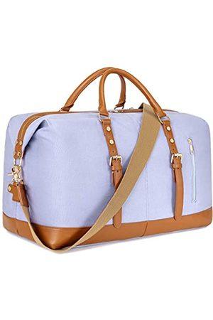 CAMTOP Weekend Reisetasche Damen Frauen Duffle Tote Taschen PU Leder Trim Canvas Übernachtung Tasche Gepäck - 6049