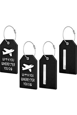 TRAVOKO Gepäckanhänger – 4 Packungen Best Travel Baggage Tags mit Sichtinformationen Karten