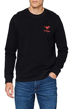 Wrangler Mens Horse Sweater, Black