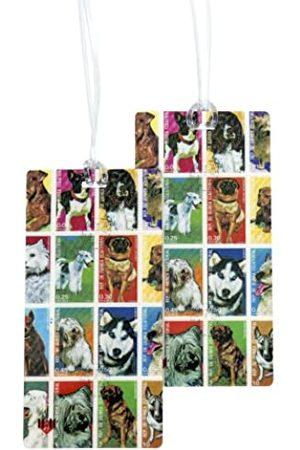 11:11 Hunde-Briefmarken Kofferanhänger mit 2 Stück Set - Große Vintage Designs von 11.11