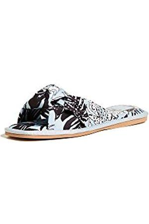 Dolce Vita Women's Halle Slide Sandal, Sky Blue Palm Print