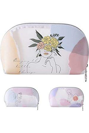 Prite Transparente Make-up-Tasche mit Reißverschluss, Reise-Kosmetik-Organizer für Damen und Mädchen, wasserdichte Make-up-Tasche für Kulturbeutel, Zubehör