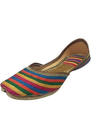 Step N Style Punjabie Jutti Khussa Schuhe Hochzeitsschuhe Ethnische Hochzeitsschuhe Mojari, (mehrfarbig)