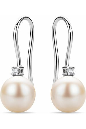DIAMADA Ohrringe 18KT Earrings with Diamonds and Pearls silber