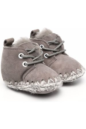 Mou Kids Knitted stitch detail boots